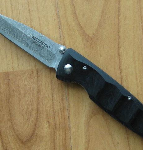 Navaja Mcusta Damasco VG-10 Basic Micarta Negra 12D